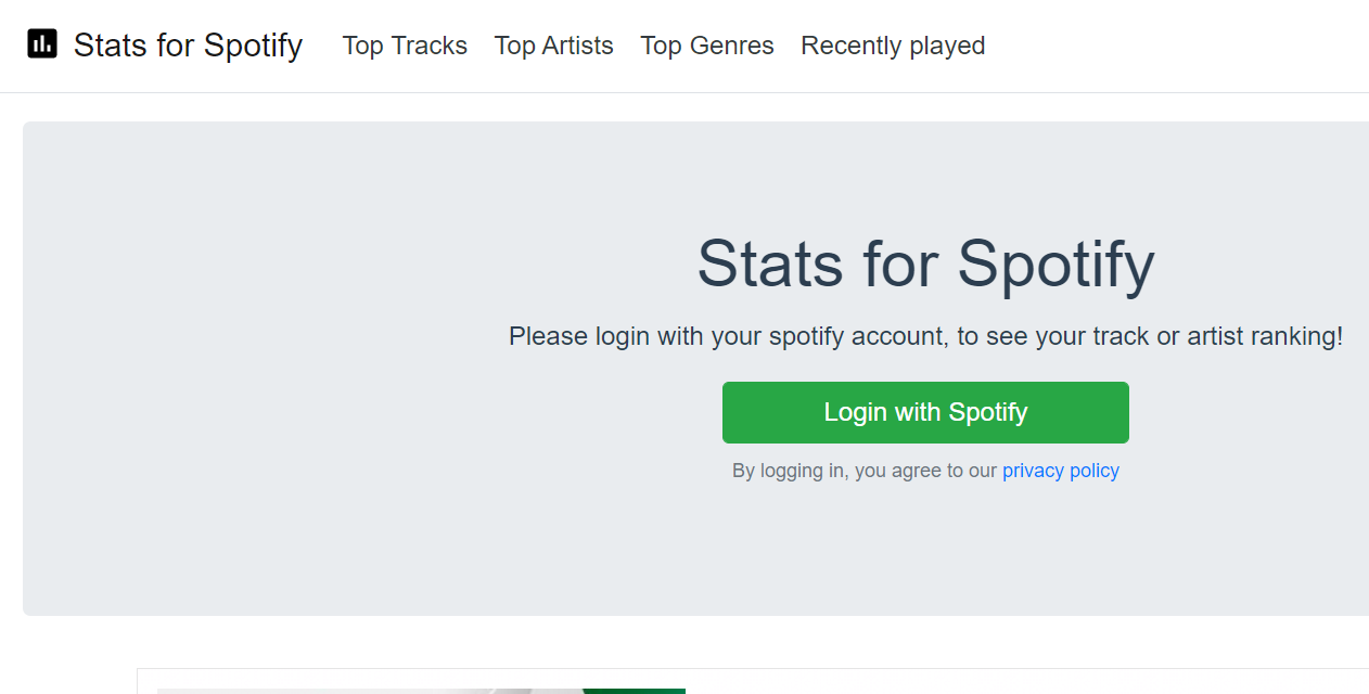 Stats For Spotify