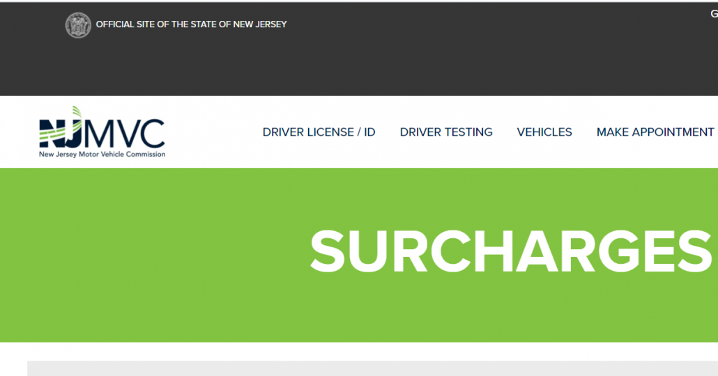 New Jersey Surcharge